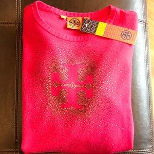 Tory Burch Logo Rhinestone Sweater*New With Tags*